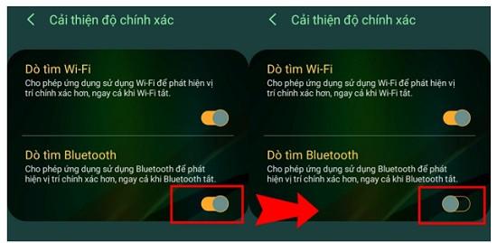 Tắt tính năng dò tìm trên điện thoại