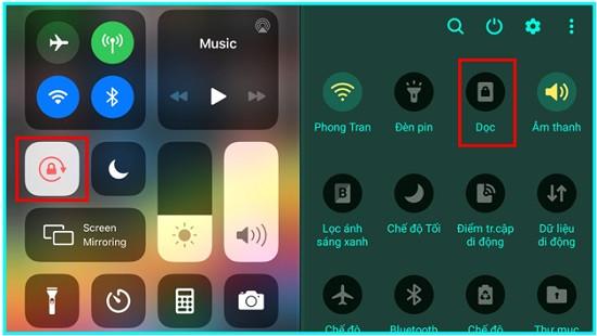 Tắt tự động xoay màn hình điện thoại