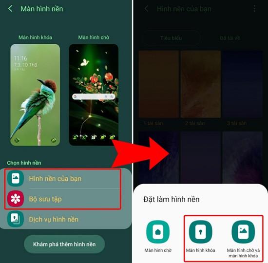 Thay đổi màn hình khóa Android