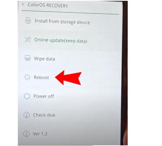 Xử lý lỗi Oppo bị ColorOS Recovery