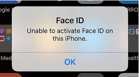 Biểu hiện iPhone 12 Pro Max mất Face ID