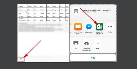 Cách đọc file excel trên điện thoại iPhone