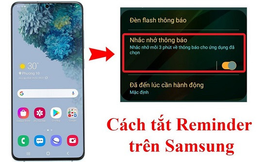 Cách tắt reminder trên Samsung