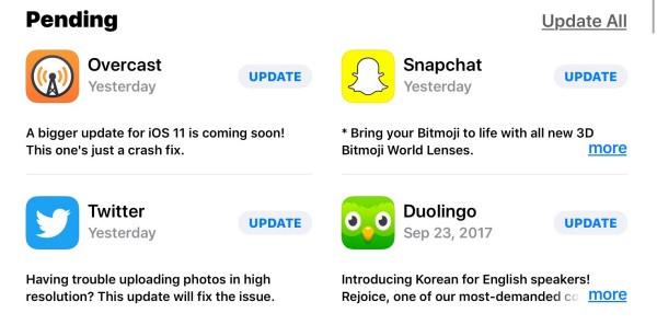Đừng quên cập nhật phiên bản mới cho ứng dụng