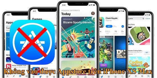 Không vào được App Store trên iPhone Xs Max