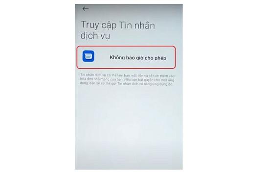 Nguyên nhân Xiaomi không gửi được tin nhắn tổng đài