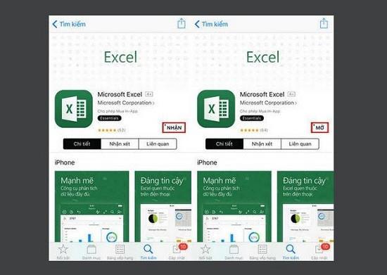 Phần mềm đọc file excel trên điện thoại