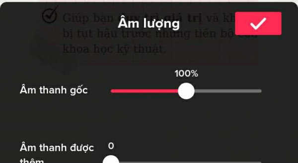 Bỏ âm thanh được thêm vào TikTok