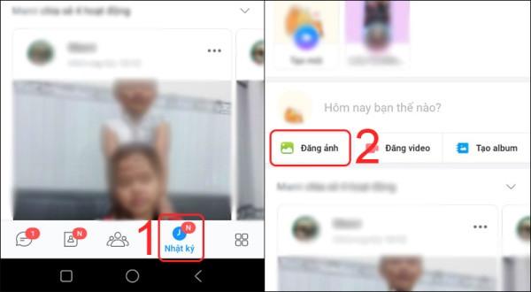 Cách đăng hình ảnh lên Zalo bước 1