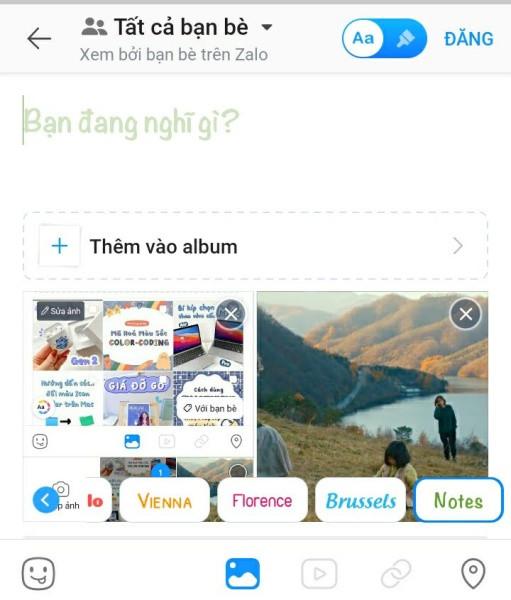 Cách đăng hình ảnh và video cùng lúc lên Zalo
