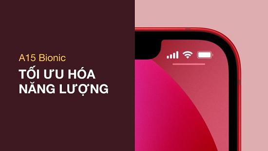 Pin iPhone 13 kéo dài thời gian sử dụng
