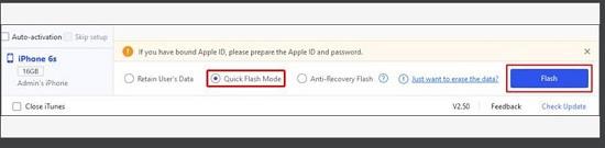 Quick Flash Mode