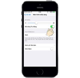 lỗi màn hình iPhone 5 tự động sáng tối