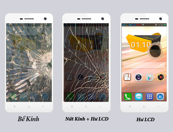 thay mat kinh man hinh oppo find mirror r819