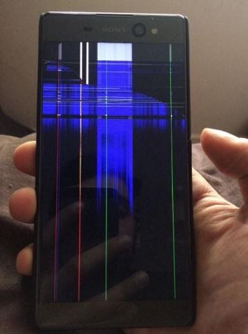 Màn hình Sony XA bị sọc không hiển thị được