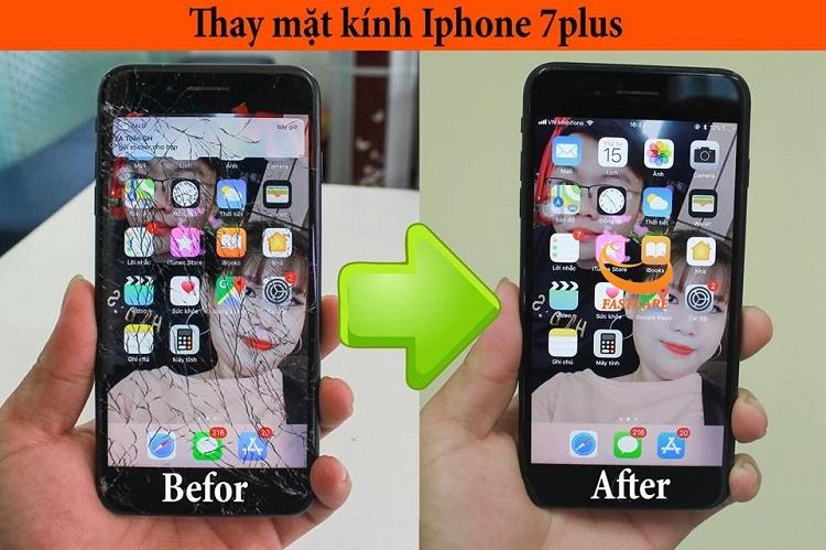 Thay mặt kính iPhone 7 Plus khi nào?