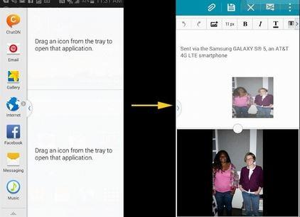Mở hai ứng dụng trên cùng một màn hình