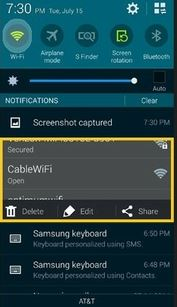 quick setting trong android