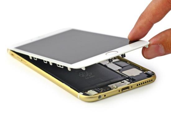 iPhone 6 6s bi den man hinh