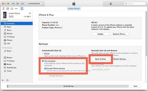 Tien hanh Restore iPhone 6s