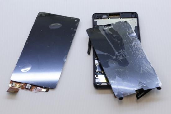 Sony Z3 bị hư hỏng màn hình buộc phải thay mới