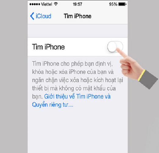 đã cài iCloud trên iPhone 7
