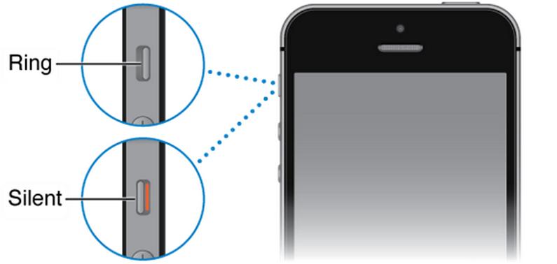 Kiểm tra thanh gạt âm thanh iPhone