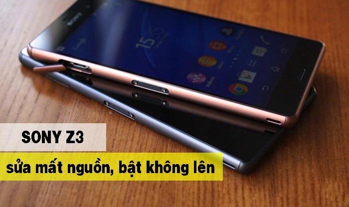 lỗi Sony Z3 bị mất nguồn