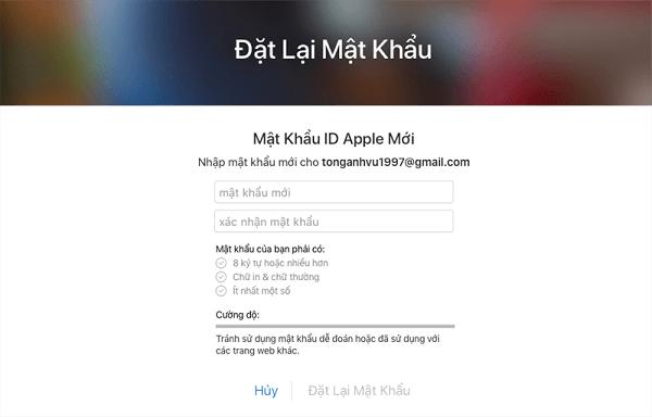 thực hiện theo các yêu cầu của Apple