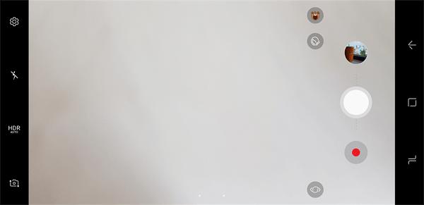 vuốt sang bên phải màn hình để truy cập vào chế độ chụp nâng cao