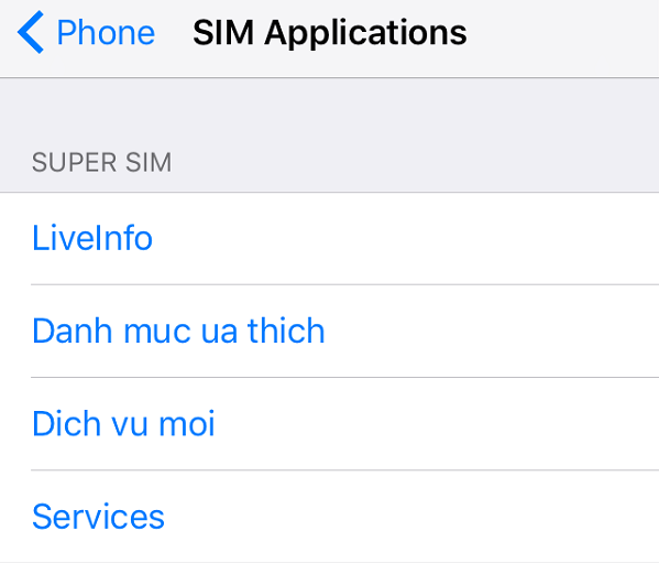 Ứng dụng SIM