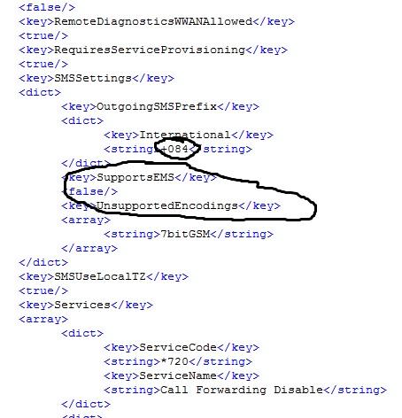 tìm Out going SMS prefix