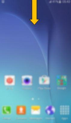 Vuốt màn hình từ trên xuống để mở tùy chọn cài đặt nhanh
