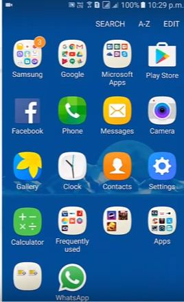 Vào phần Settings của Samsung Galaxy J7 Prime