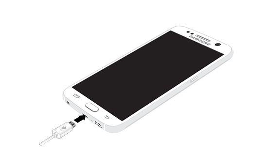 Cắm đầu sạc vào Samsung Note 5