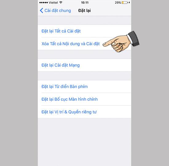 Bạn nên thử đưa chiếc iPhone của mình về chế độ cài đặt gốc