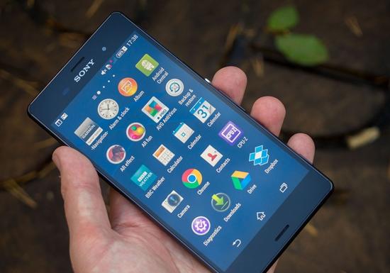 Sony Z3 bi giat man hinh