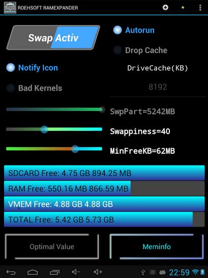 đánh dấu chọn trước SWAP Active để tạo file SWAP