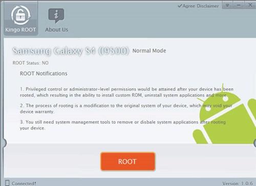sử dụng công cụ root Framaroot hay KingoApp Root Tool