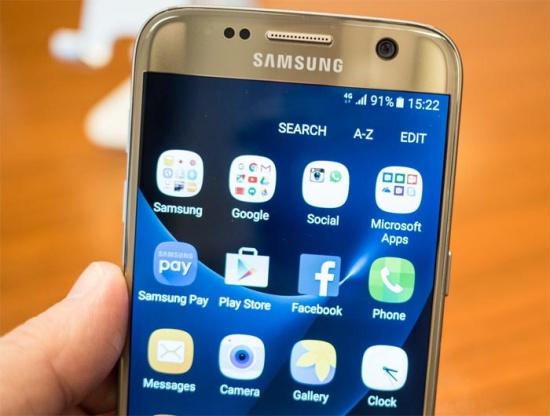 Samsung S7 bi giat man hinh