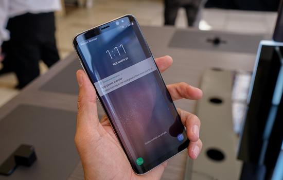man hinh Samsung S8 bi mo