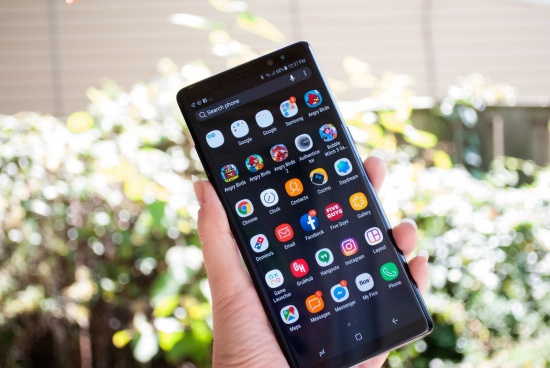 Samsung Note 8 liet cam ung