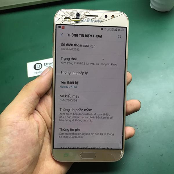 Samsung J7 Pro không kết nối được Wifi