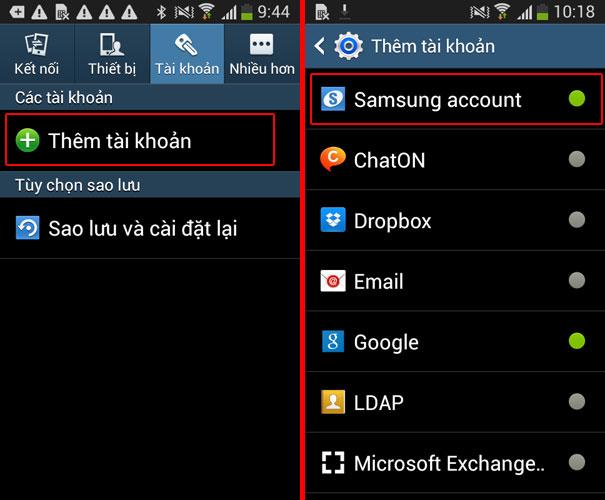Đăng nhập tài khoản Samsung để cài định vị cho điện thoại