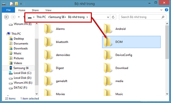 Cách chuyển ảnh từ điện thoại samsung sang máy tính