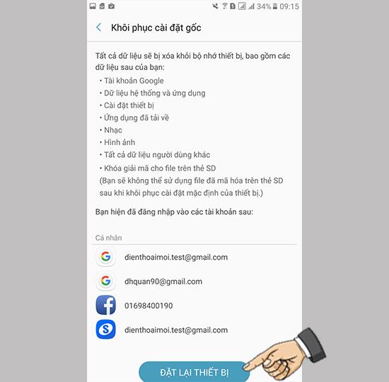 Samsung A7 2017 bi loan cam ung