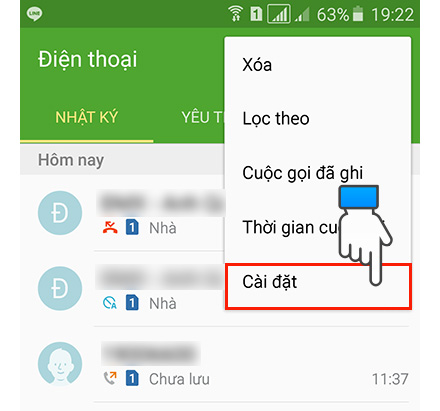 Mẹo chặn số điện thoại trên Samsung
