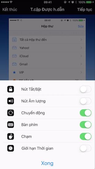 Khóa những phím chức năng khác trên iPhone