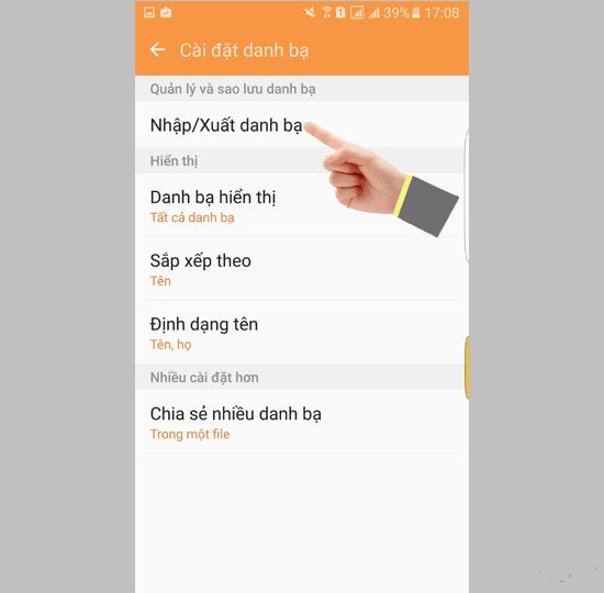 cách copy danh bạ từ sim vào máy Samsung nhanh