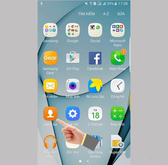 cách copy danh bạ từ sim vào máy Samsung